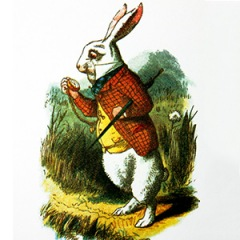 White rabbit from Alice in Wonderland